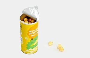 圆形纸罐广泛应用于零食包装