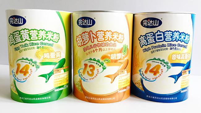 完达山米粉纸罐