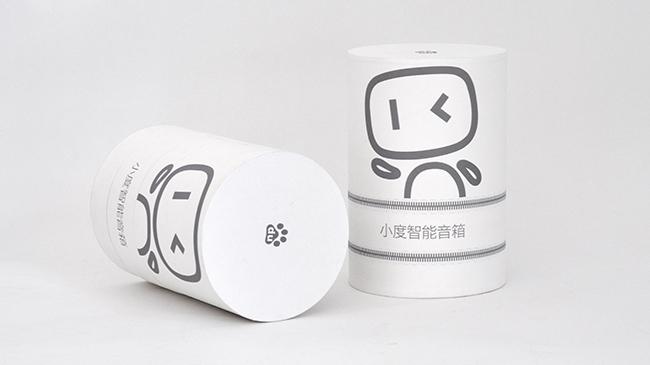 小度音箱纸罐
