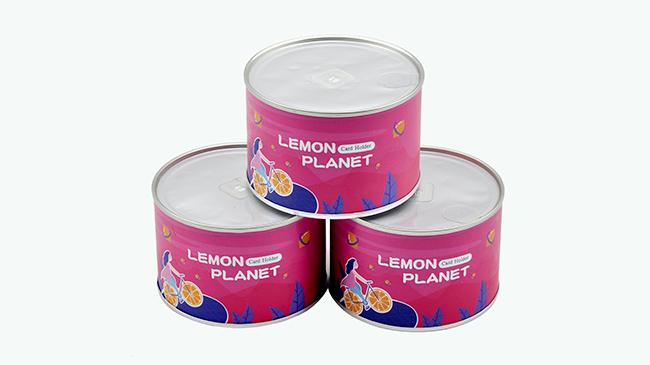 柠檬片纸罐