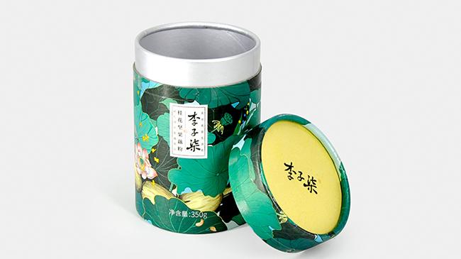 李子柒藕粉纸罐