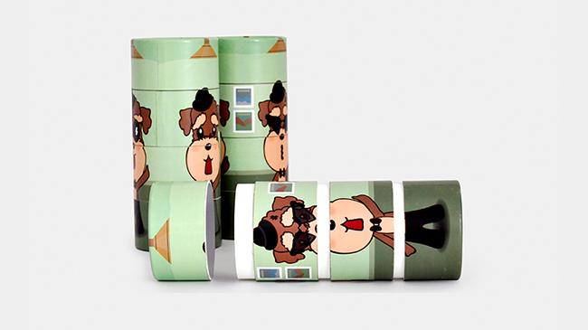 四连环趣味礼品纸筒